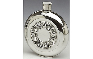 Celtic Knots Pewter Whiskey Flask