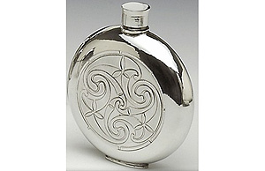 Celtic Knotwork Whiskey Flask (6ox - Made from Irish Pewter)