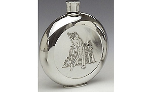 Golf Pewter Whiskey Flask