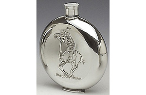 Horse Pewter Whiskey Flask