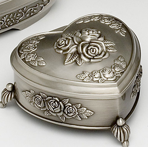 Heart Rose Jewelry Box