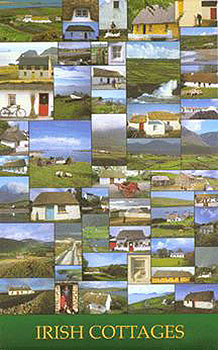 Traditional Irish Cottages Poster