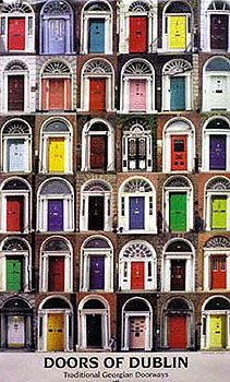Doors of Dublin Poster & Irish Posters 16\u0027 x 12\u0027 - Doors of Dublin Poster