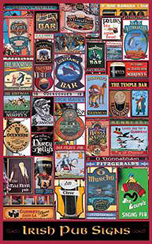 Pub Signs Of Ireland Irish Poster