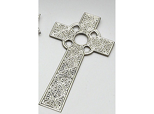 Celtic Knotwork Pewter Cross