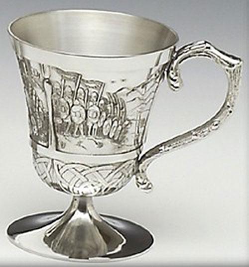 Brian Boru Pewter Cup (8oz - Crafted in Ireland)