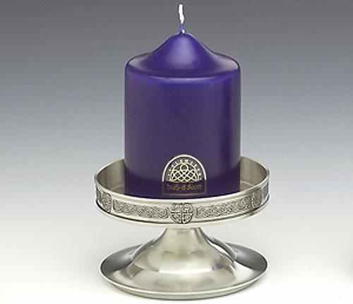 "Mullingar Pewter Celic Candlestick (Diameter 5"" inches)"