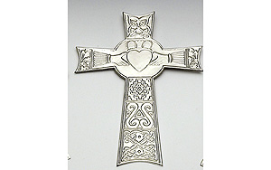 "Claddagh - 9"" inch Celtic High Cross"