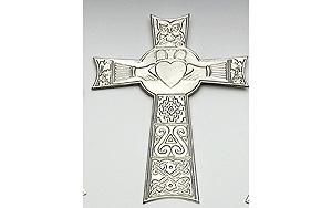 "Claddagh - 9"" inch Celtic High Cross (by Mullingar Pewter)"