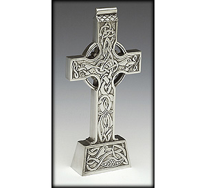 Celtic Standing Pewter Cross