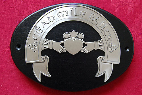 Claddagh Cead Mile F�ilte Wall Plaque