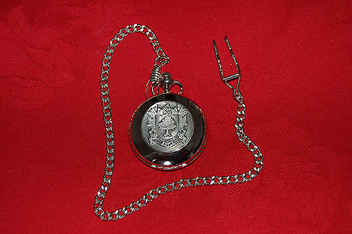 Boyle Coat of Arms Crest Pocket Watch