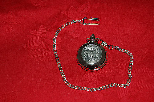 Brown Coat of Arms Crest Pocket Watch
