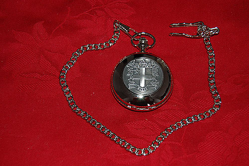 Burke Coat of Arms Crest Pocket Watch