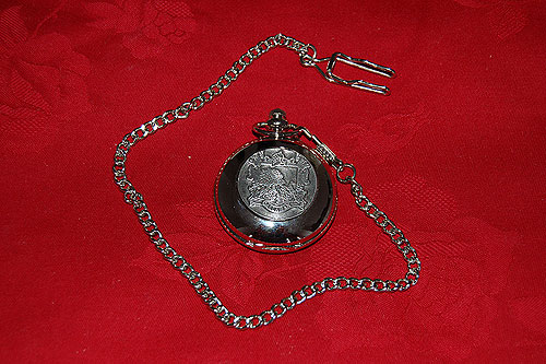 Callahan Coat of Arms Crest Pocket Watch