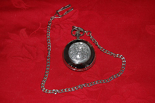 Carroll Coat of Arms Crest Pocket Watch