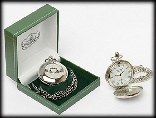 Claddagh Pocket Watch (Irish Pewter - roman numerals)