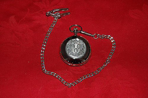 Clarke Coat of Arms Crest Pocket Watch