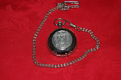 Connolly Coat of Arms Crest Pocket Watch