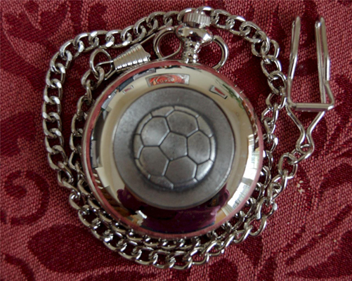Irish GAA FOOTBALL Pewter (POCKET WATCH - Made in Ireland)