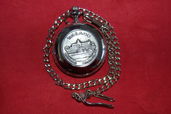 GALWAY CATHEDRAL - Irish Made Pewter POCKET WATCH