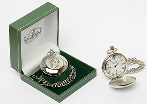 Map of Ireland Pocket Watch (by Mullingar Pewter - roman numerals)