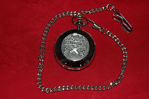 Heraldic Pocket Watches - Johnson Coat of Arms Crest Pocket