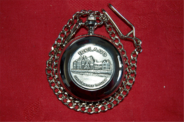 MUCKROSS HOUSE - Irish Made Pewter POCKET WATCH