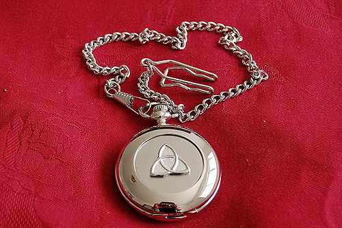 Irish Trinity Knot Celtic Pocket Watch