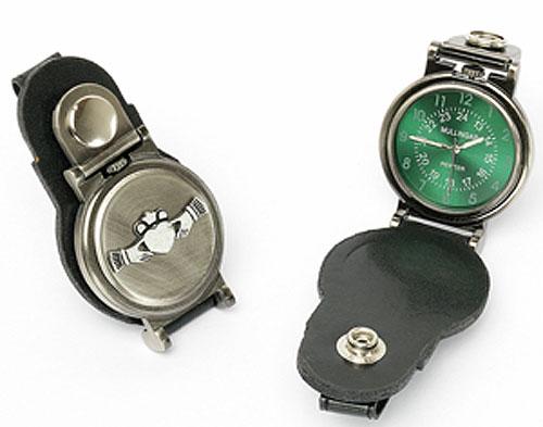 Claddagh Pewter Belt Watch