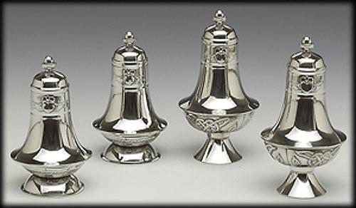 "Pewter Salt & Pepper Set (4"" inches high)"