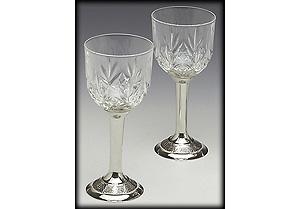 Pewter Crystal White Wine Set (Crafted I nIreland)
