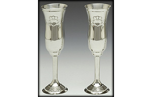 """Claddagh Champagne Flute Set (8.5"""" inches high)"""