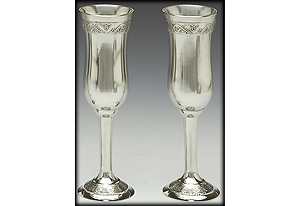 """Celtic Champagne Flute Set (8.5"""" inches high)"""