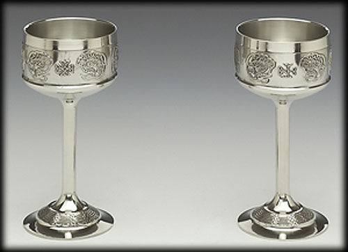 """Pewter Hock Goblet Set (8.5"""" inches high)"""