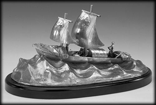 St Brendan the Navigator (Sculpture by Mullingar Pewter)