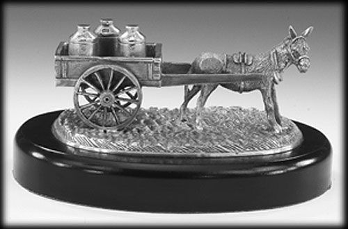 Off to the Creamery (Mullingar Pewter sculpture)