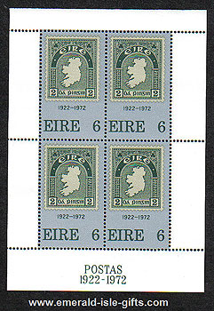 Ireland 1972 50 Years Irish Stamps Miniature Sheet Mnh