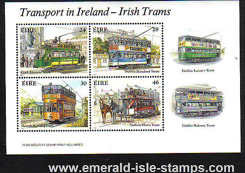 Ireland 1987 Trams Miniature Sht Mnh