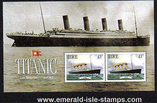 Ireland 1999 Titanic Min Sheet Mnh