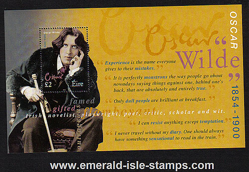 Ireland 2000 Oscar Wilde Min Sheet Mnh