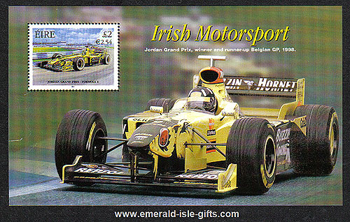 Ireland 2001 Jordan Grand Prix Miniature Sheet Mnh
