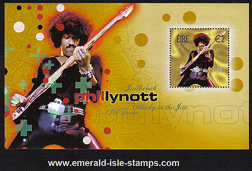 Ireland 2002 Phil Lynott Thin Lizzy Miniature Sheet Mnh