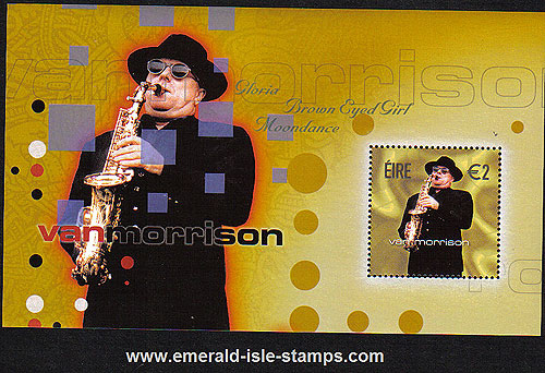 Ireland 2002 Van Morrison Van The Man Min Sheet Mnh