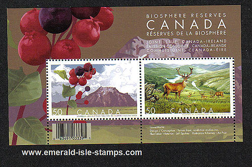 Canada 2005 Biospheres Min Sh Mnh (joint Issue Ireland)