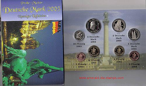 German Nostalgic Deutsche Mark Set (Year of Issue - 2005)