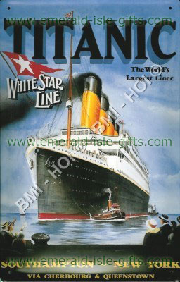 Titanic - Vintage Style old Metal Sign