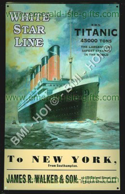 S.S Titanic Metal Sign Advert