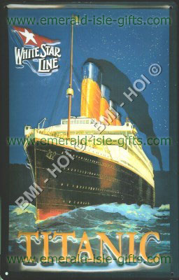 The Famous Titanic on Nostalgic Metal Sign
