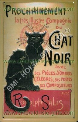 Le Chat Noir Poster, Paris (on metal sign)